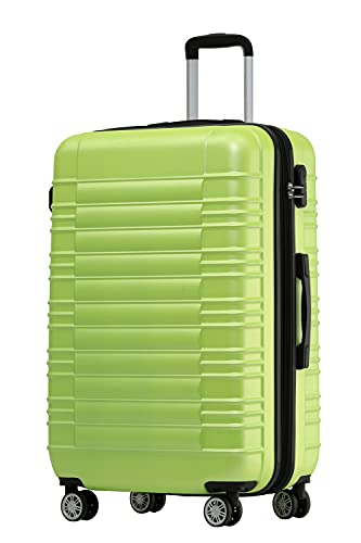 BEIBYE 2088 Zwillingsrollen Reisekoffer Koffer Trolleys Hartschale M-L-XL-Set in 13 Farben (Green, XL)
