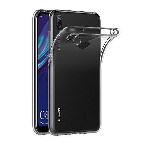 AICEK Hülle Compatible für Huawei Y7 2019 Transparent Silikon Schutzhülle für Y7 2019 Hülle Clear Durchsichtige TPU Bumper Huawei Y7 2019 Handyhülle (6,26 Zoll)