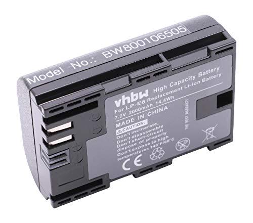 vhbw Akku kompatibel mit Blackmagic Pocket Cinema 4K Kamera Digicam DSLR (2000mAh, 7,2V, Li-Ion) mit Infochip