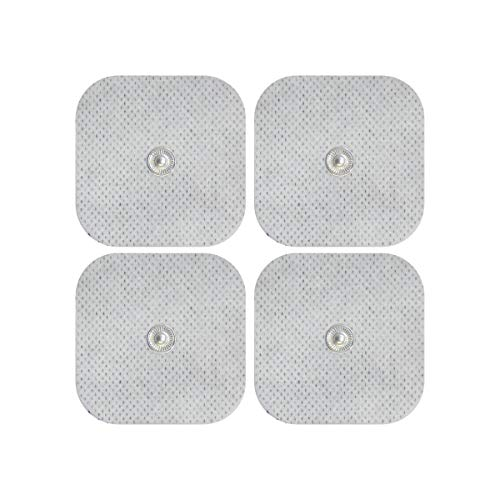Elektroden-Pads - Für Sanitas & Beurer Geräte - 4 Stück, 5x5cm Selbstklebend - 3,5mm Druckknopf - TENS und EMS