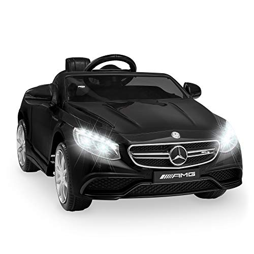 Best Choice Products 12V Kids Licensed Mercedes-Benz S63 Coupe Ride On Car w/ Parent Control, MP3, 3 Speeds - Black