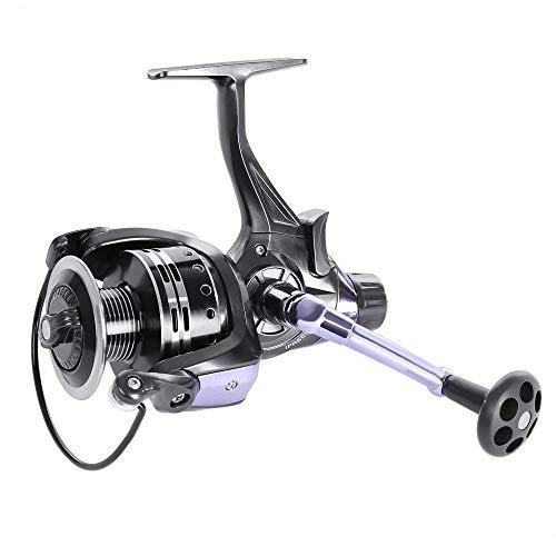 OUTLIFE Spinning Fishing Reel- Baitrunner Front&Rear Brake Drag 11+1 Ball Bearing 4.7:1 for Freshwater/Saltwater IFR5000