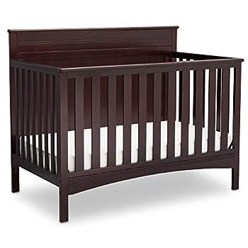 Delta Children Fancy 4-in-1 Convertible Baby Crib Dark Chocolate