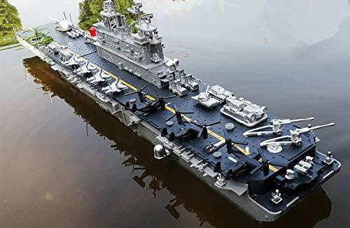 Sowofa 75CM超大型リモコン軍用モデルリモコンヘリコプター空母水陸両用強襲艦大型シミュレーション軍曹モデル電気リモコンボート軍用艦船航空機子供のおもちゃオーナメントギフト