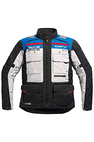 Difi SIERRA NEVADA EDT AEROTEX® Motorradjacke Größe XXL, Farbe schwarz/blau/hellgrau