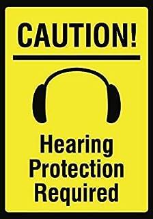 Modtory Precaución de modulación. Señal de protección auditiva – Señal de Seguridad de Ruido – Metal de Aluminio 2