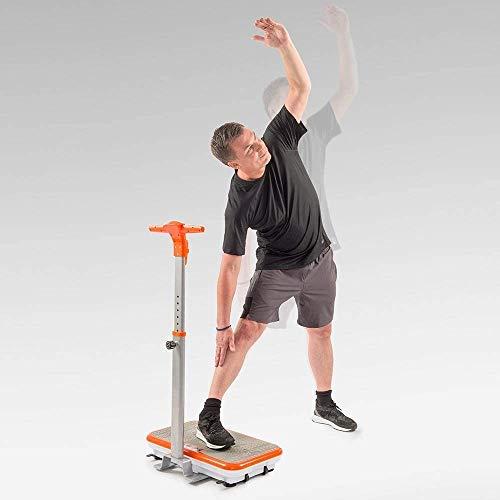 Mediashop VibroShaper – Fitness Vibrationsplatte unterstützt bei Muskelaufbau und Fettverbrennung – Vibrationstrainer für alle Muskelgruppen – inklusive Fitnessbänder – orange mit Griff - 5