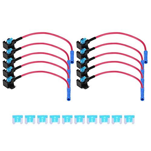 Fusible de cuchilla estándar 10 piezas Auto Car Agregar circuito Fusible Adaptador...
