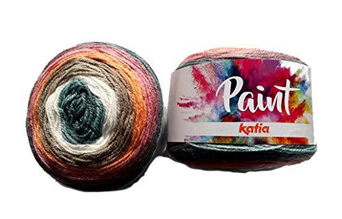 Katia Paint – Color: Crudo/Esmeralda/Visón/Salmon/Lila (70) – 150 g/aprox. Lana de 540 m.