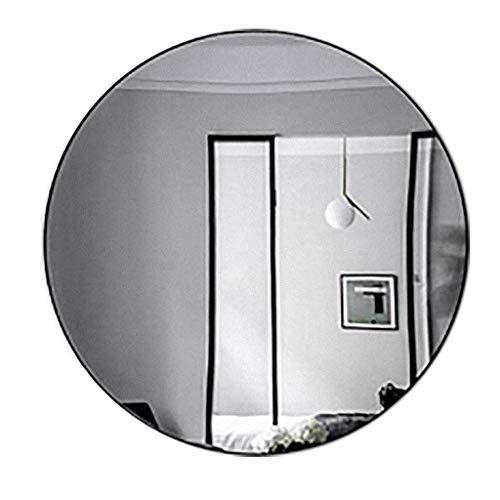 Hfyu Cosmetische Spiegel muur Spiegels voor Woonkamer Zwart, Messing Spiegel Gouden Villa Ronde Spiegel Toilet Wandmontage Spiegel Ingang Decoratieve Spiegel Handheld Spiegels