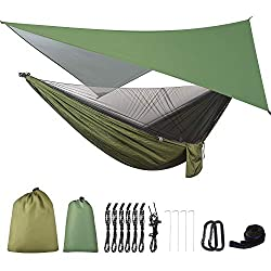 A performance hammock with a rain fly and bug netting is a serious gift for backcountry camping enthusiasts.