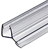 SELLO DE PUERTA CRISTAL ducha Sellado labios para mamparas 135° Cerrar Herméticamente del Suelo duschtür-dichtung Longitud 2000 MM PVC TRANSPARENTE AGUA SABIO GRUESO 8-10mm