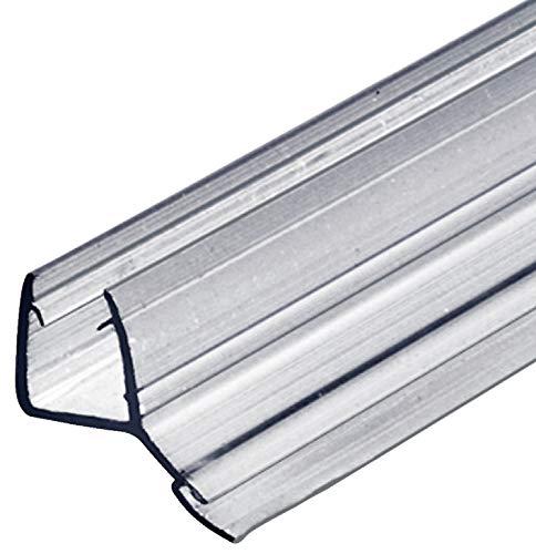 Gedotec Glas-Türdichtung Dusche Lippendichtung Duschtür-Dichtung für Duschkabinen 135° zum Abdichten vom Boden | 2000 mm | PVC Transparent | Wasserabweiser für Glasdicke 8-10 mm | 1 Stück - Türdichter