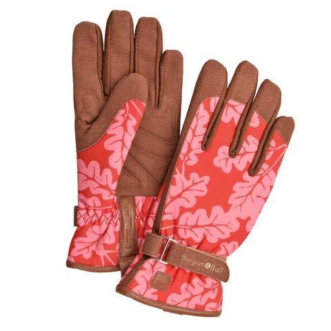 """Burgon & Ball """"Love The Glove"""" Garten-Handschuhe für Damen, Eichenblatt, verschiedene Größen, M/L, Eichenblatt-Mohnblume., 1"""