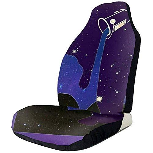 Alice Eva 2pcs couvertures de siège de voiture versent le lait pour les couvertures de sièges auto voitures pour toutes les couvertures de sièges avant de protection