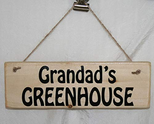 Yohoba Greenhouse Sign Plaque Grandad Grampy Bampy Granda Taid Allotment Potting Shed