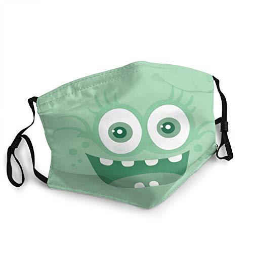 ZVEZVI divertido monstruo sonriente boca cuello polaina bufanda personalizada lavable media máscara con orejera ajustable divertido pasamontañas pañal