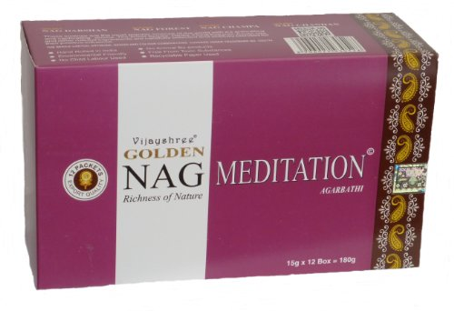 180 gms Box of GOLDEN NAG MEDITATION Agarbathi Incense Sticks - in stock and shipped by Busy Bits by...
