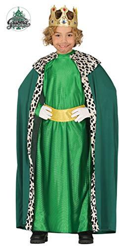 GUIRMA, S.A. Disfraz de Rey Mago Verde Infantil - 5-6 años (110-115 cm)