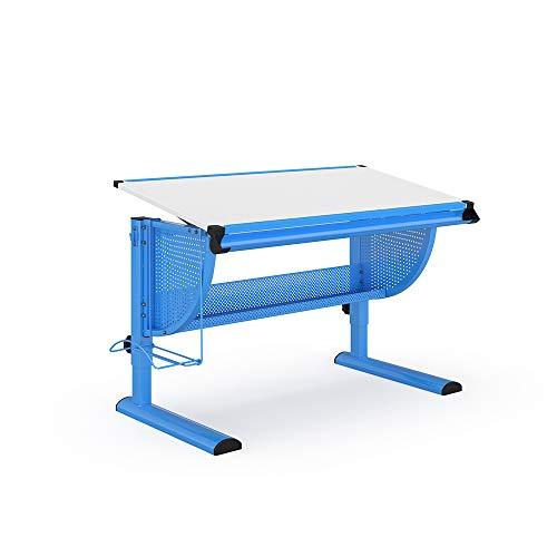 Vicco Kinderschreibtisch Astrid Schreibtisch höhenverstellbar neigbar Schüler (Blau)