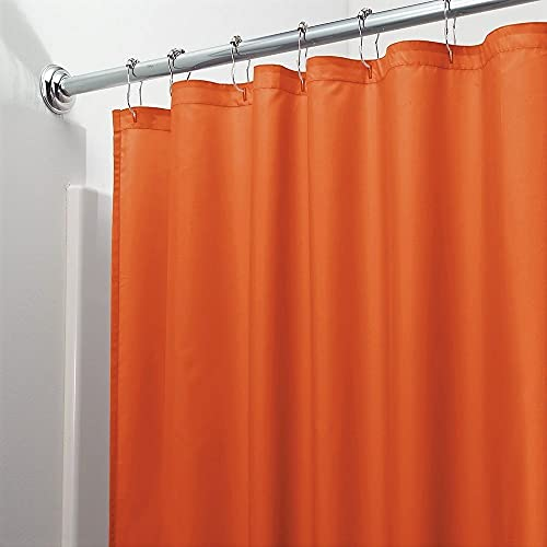 Vinyl Shower Curtain Liner with Rustproof Metal Grommets for Bathroom Showers and Bathtubs – Waterproof Shower Liner –  Orange, 70 x 72
