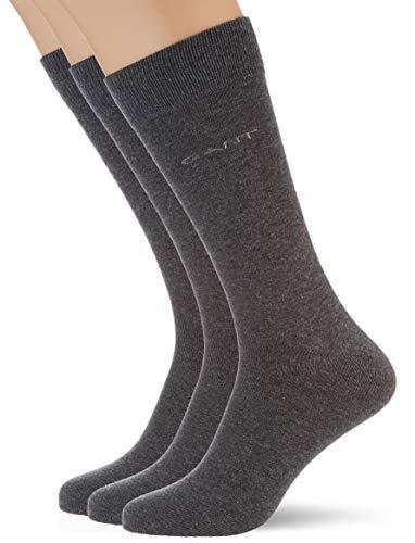 GANT Herren 3-Pack Soft Cotton Socks, Charcoal Melange, OneSize