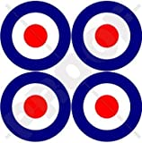 RAF British Royal AirForce Type D Aircraft Roundels 2' (50mm) Vinyl Stickers, Decals x4