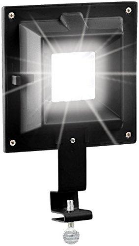 Lunartec LED Außenlampe: Solar-LED-Dachrinnenleuchte, 20 Lumen, 0,2 Watt, Licht-Sensor, schwarz (Solar-Lampe für Dachrinnen)