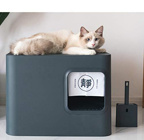 Dvuboo Lettiera per Gatti Autopulenti Chiusa Totalmente Cat Igienici Super Toilette per Gatti Facile da Pulire e Deodorante Anti-Spruzzi Adatto a Gatti Domestici Jumbo Large Space,Nero