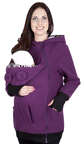 Mija - Maternité chaude Sweet ? capuche / Pull pour deux / Pour porter les bébés 4019A (EU 42, Violet)
