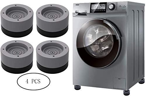Seisso Amortiguador de Vibraciones para Lavadoras 4pcs, Pies para Lavadora Secadora, Muebles Lavadora Altura ajustable Antideslizante, reducir ruido y vibración