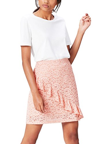 Amazon-Marke: find. Damen Rock, Rosa (Blush), 34, Label: XS