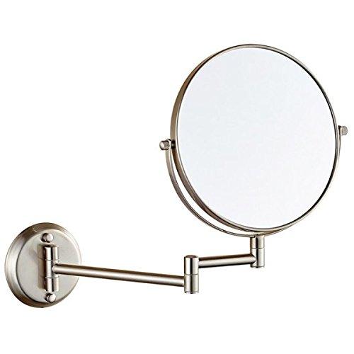 Plegado De Hojalata Baño Espejo De Aumento Espejo De Pared Del Baño Espejo,Silver-A:6in