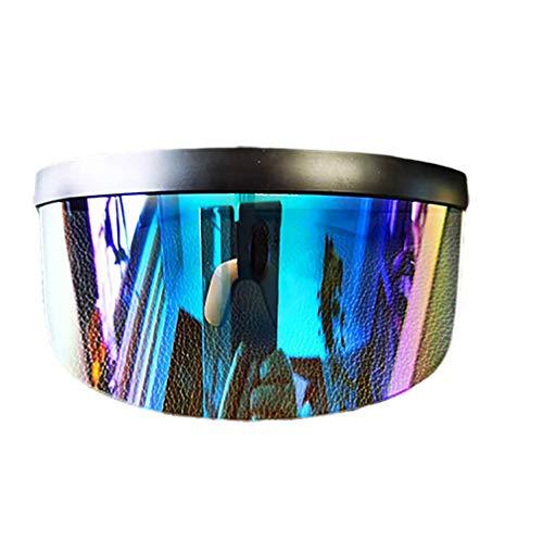 Lutun Futuristisches Oversize Shield Visier, Sonnenbrille mit verspiegeltem Unisex Shield-Objektiv, Anti-Voyeur-Sonnenschutz-Sonnenblende für Erwachsene
