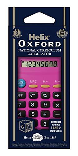 Oxford 979119 Helix Basic - Calculadora, color rosa
