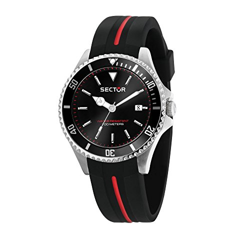 Sector No Limits Herren Analog Quartz Uhr mit Silicone Armband R3251161038