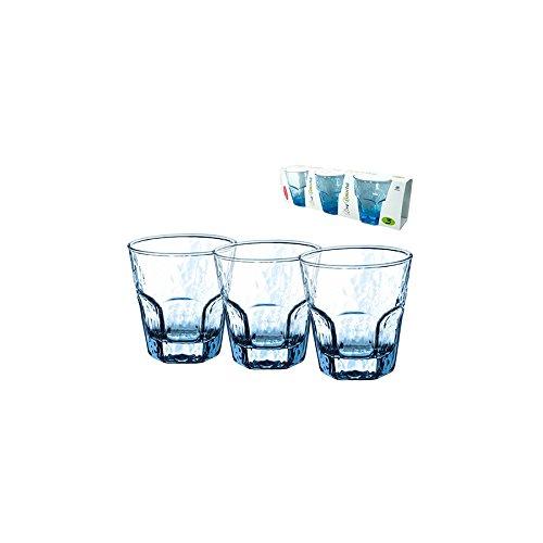 PASABAHCE Set 24 glazen glazen Haze Turquoise Ese 27 Arredo Tavola