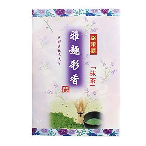 雅趣彩香 抹茶小箱 6個入×4箱 イソップ製菓 熊本産小麦粉使用カステラ生地で抹茶あんを手巻きにした郷土菓子 仏事用