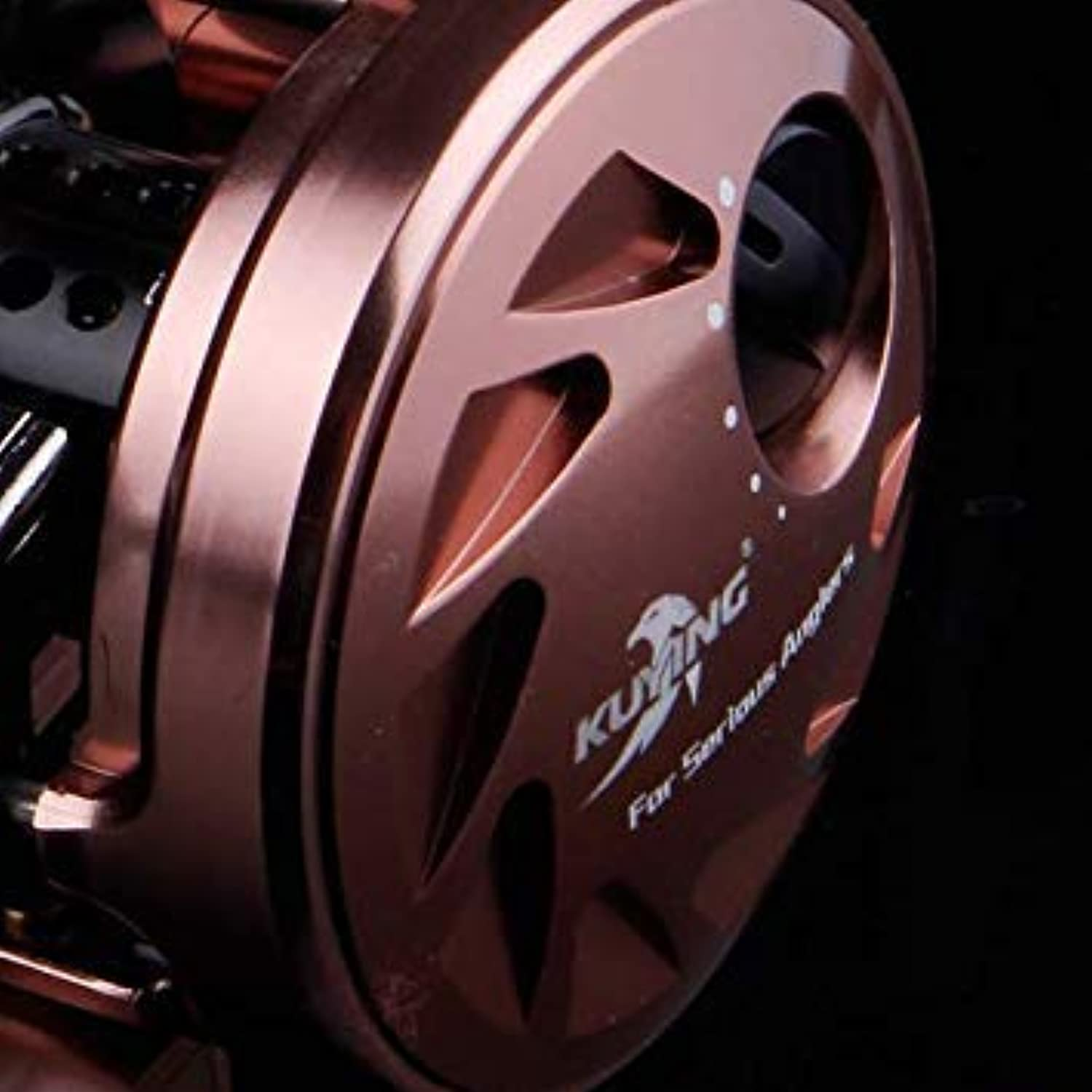 GEOPONICS KUYING Magician 6.2 1 12+1 MetalCasting Drum 286.5g Fishing Reel Vessel Wheel Saltwater Coil Centrifugal 8KG color Brown color Use Mode Right Handed