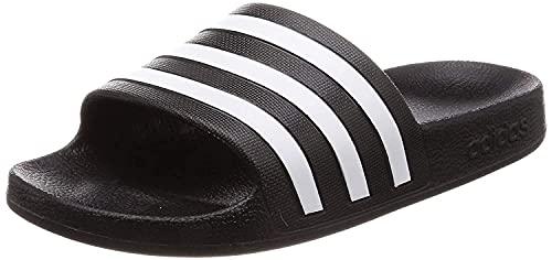 Adidas Men's CBLACK/FTWWHT/CBLACK Adilette Aqua Slides (F35543)