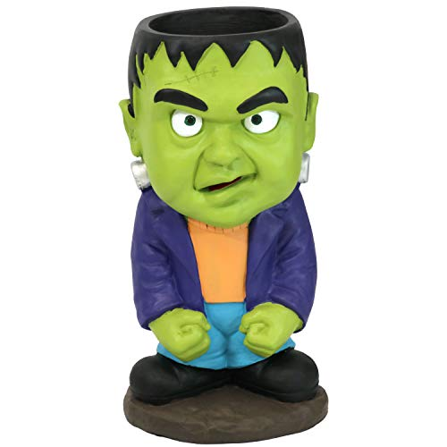 Sunnydaze Frankenstein Halloween Large Statue with Built-in Candy Bowl Dish, 27-Inch Tall