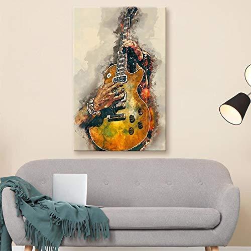 Cuadro en lienzo pintura impresa guitarra eléctrica cartel de arte de pared...