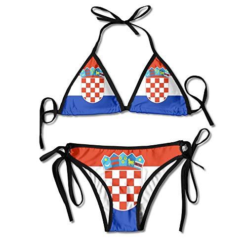 Bikini Flagge Von Kroatien Schöne Bikini Set Sexy Hawaii Gemütlich Sexy Geburtstagsgeschenk Bademode Pool Badeanzug Cosplay Unterwäsche Langlebigen Strand 2 Stück Sommerferien Für