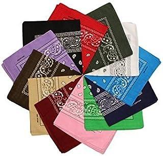 100% algodón 1pcs, 6pcs o 12pcs paquete Bandanas con el color Original de patrón de Paisley de opción sombreros/pelo