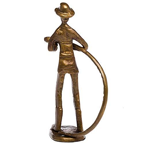 Escultura de Bombero Antiguo de los Bomberos Figura de Bronce Estilo de Arte