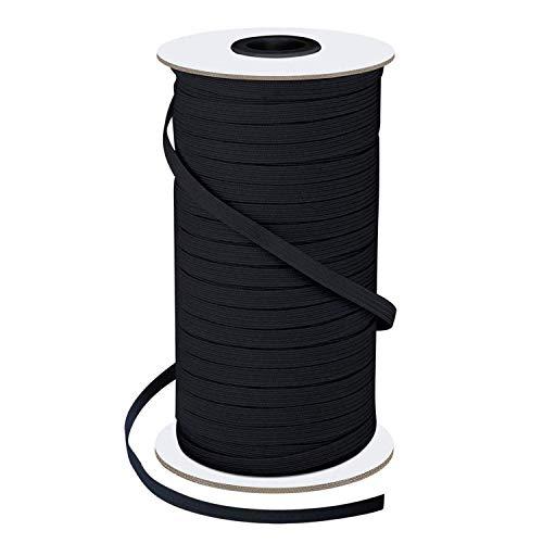 0,3 cm breites elastisches Band zum Nähen von schweren Stretch-Strickbändern, elastische Kordel, Seil, Seil für Näharbeiten, Basteln, Masken, Tagesdecke, Manschette 1/4