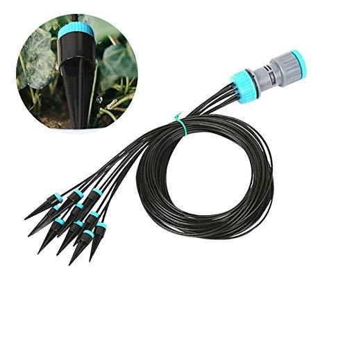 TF Kit de riego por goteo, kit de riego automático de micro flujo de aire, sistema de riego por goteo, sistema de riego por goteo, con manguera de distribución para plantas