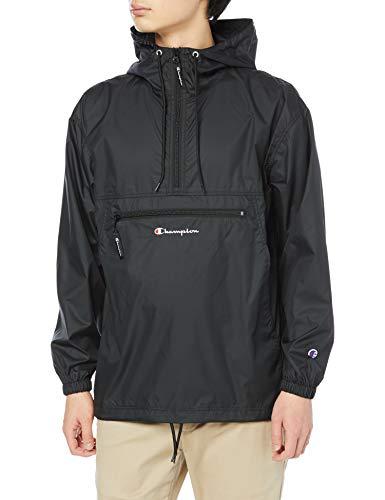 [チャンピオン] アノラックジャケット アウター パッカブルジャケット 撥水 ストリートテイスト スクリプトロゴ刺繍アノラックジャケット C3-T605 メンズ ブラック L