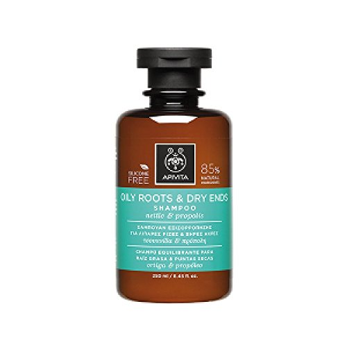 Apivita Oily Roots & Dry Ends Shampoo with Nettle & Propolis 250ml