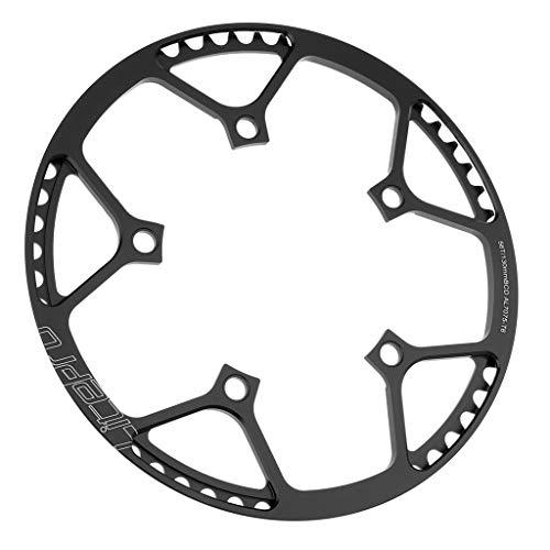 CUTICATE Kettenblatt 45/47/53/56/58/ Zähne 5-Arm MTB Chainring Kettenschutzring - Schwarz 56T